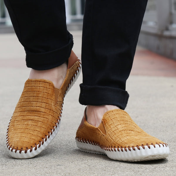 Men Fashion Soft Genuine Leather Comfortable Driving Loafers