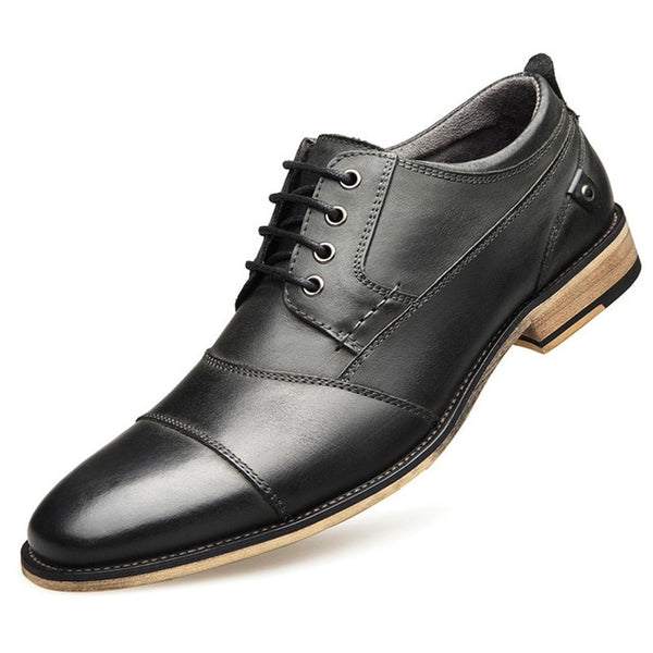 Kaaum-Men Top Quality Oxfords Genuine Leather Casual Shoes