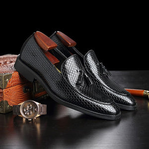 Shoes - 2019 Men's British Style Vintage Tassel Dress Shoes