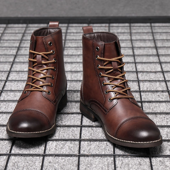 Kaaum Britsh Vintage Leather Boots