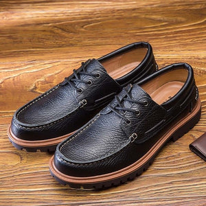 Shoes - Retro Hand-Sewing Men Full Grain Leather Shoes