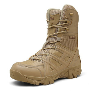 Kaaum Men High Quality Brand Military Leather Boots