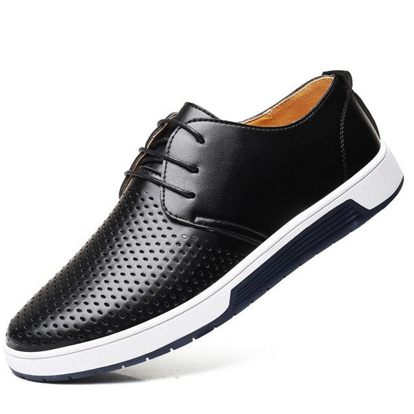 Men's Shoes - Breathable Holes High Quality Flat Shoes