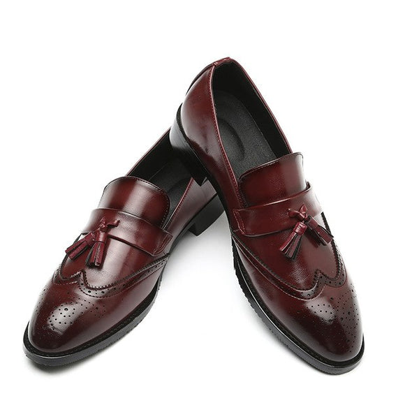 Shoes - Big Size Men's Classic Leather Tassel Shoes