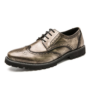 Men Genuine Leather Dress Shoes Business Formal Shoe