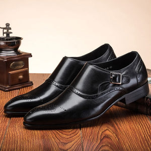 2018 New arrival Men's Handmade Autumn Vintage Bullock Business Shoes