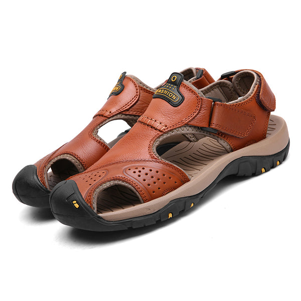 f8c522520713 Men s Shoes - Men s Summer Wading Genuine Leather Beach Sandals Hiking Shoes