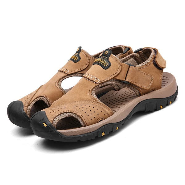 e1714f9ff051 Men s Shoes - Men s Summer Wading Genuine Leather Beach Sandals Hiking Shoes