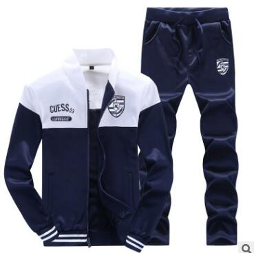 Long Sleeves Stand Collar Men's Tracksuit Outfit