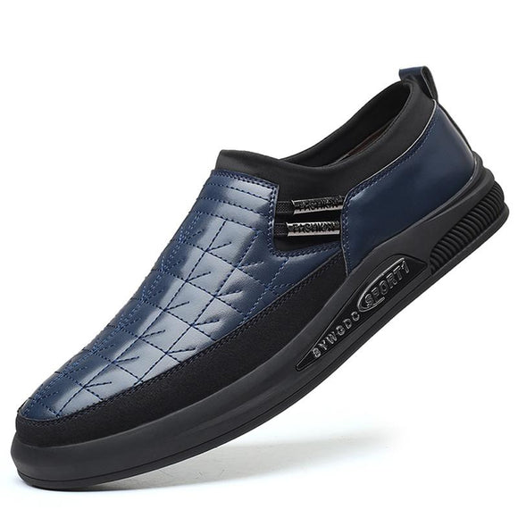 Kaaum Plus Size Men Slip-on Genuine Leather Comfy Loafers