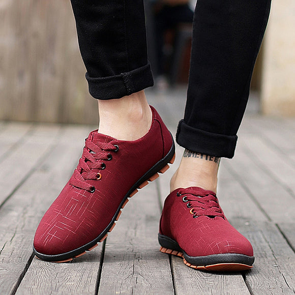 Men's Shoes - Spring Comfortable Canvas Casual Basic Solid Mesh Shoes