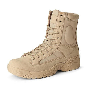 Kaaum Men Tactical Waterproof Non Slip Combat Boots