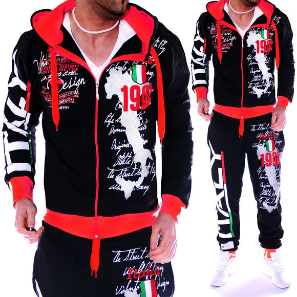 Men Tracksuit 2 Piece Tops and Pants