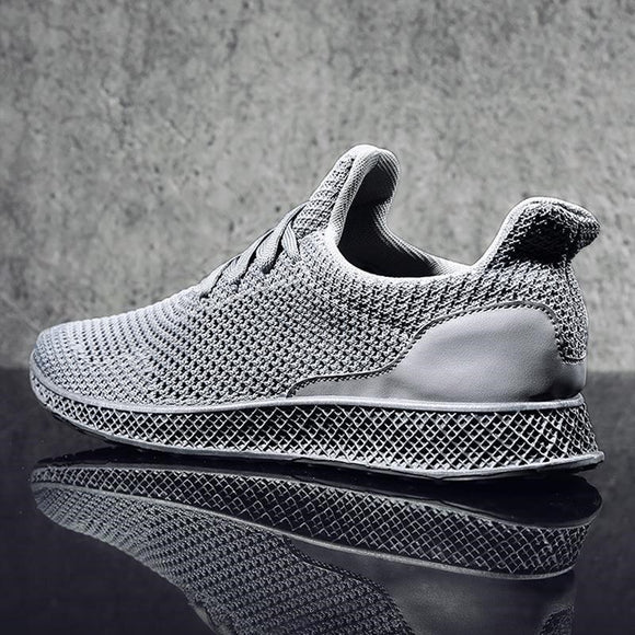 Air Mesh  No-slip Lace Up Men's Sneakers
