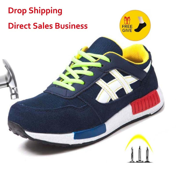 Men Women Safety Shoes Steel Toe Work Shoes