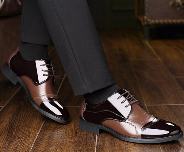 Men's Shoes - 2019 Lace Up British Style Patchwork Dress Shoe
