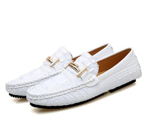 Men's Shoes - 2019 Plus Size Crocodile Leather Classical Driving Shoes