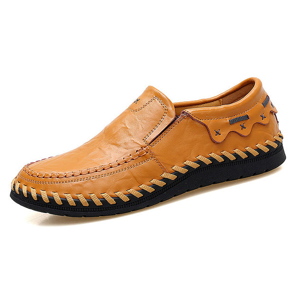 Men S Casual Shoes Men S Genuine Leather Handmade Driving Shoes