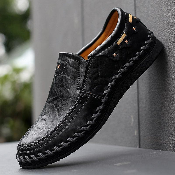Men's Casual Shoes - Men's Genuine Leather Handmade Driving Shoes