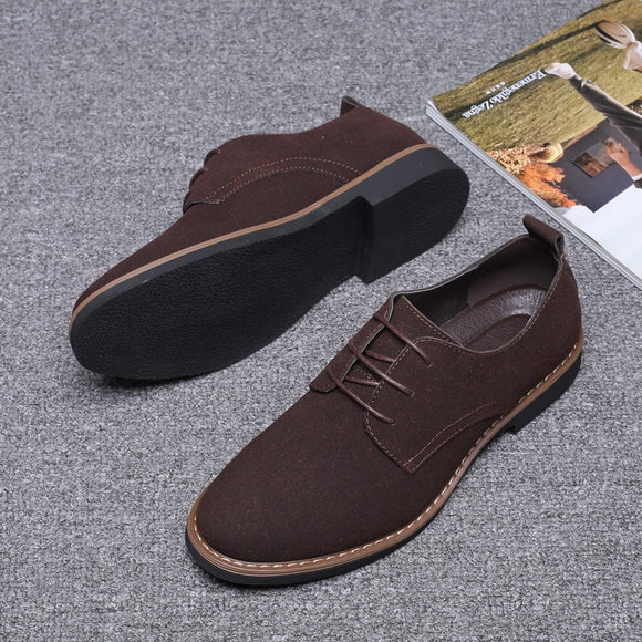 Winter Autumn Men Suede Oxford Shoes