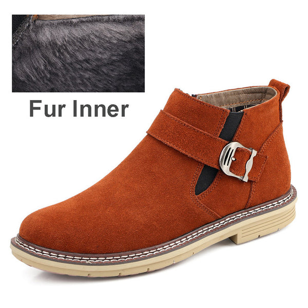 Shoes - Classic Style Men's Suede Leather Boots