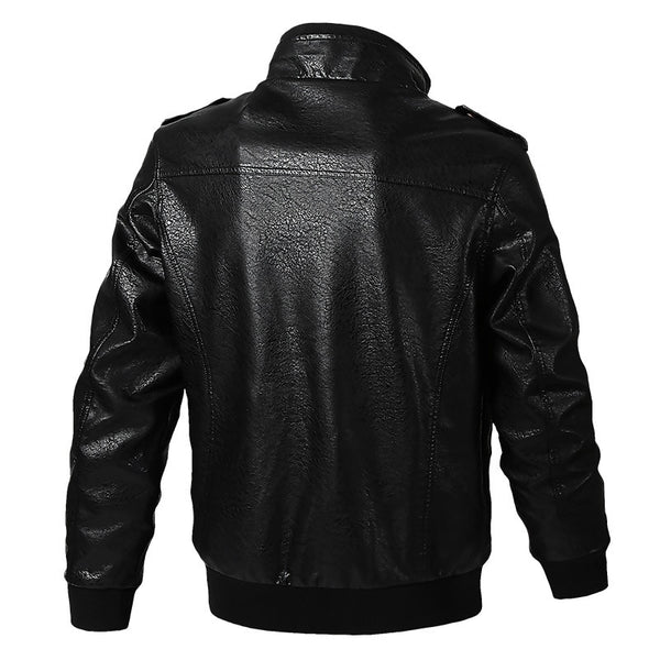 Men's Clothing - Men's Military Tactical Leather Jacket