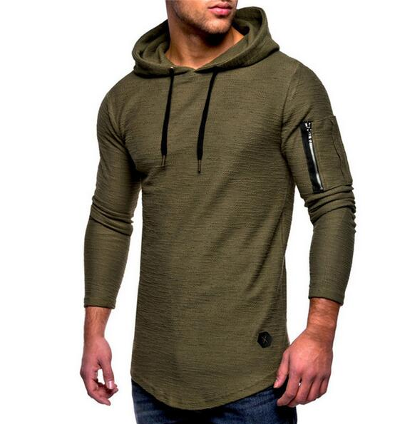 Clothing - 2018 Men's Autumn Winter Casual Zipper T-shirt