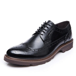Kaaum British Style Men's Vintage Brogue Shoes Dress Shoes