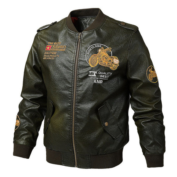 Men's Clothing - Autumn Winter Men's Leather Outwear Jackets