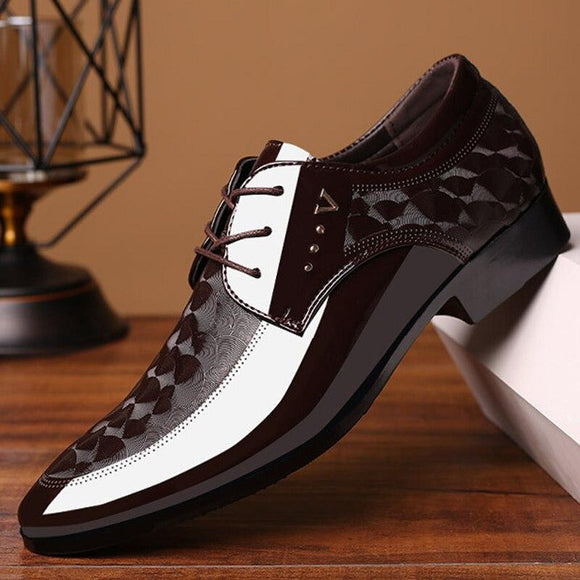 Men Formal Italian Patent Leather Dress Wedding Shoes