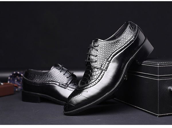 Shoes - Men Pointed Dress Shoe Oxfords Shoes