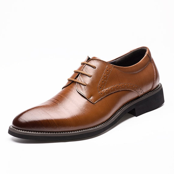 Men's Shoes-Fashion Breathable Business Lace Up Oxfords Shoe