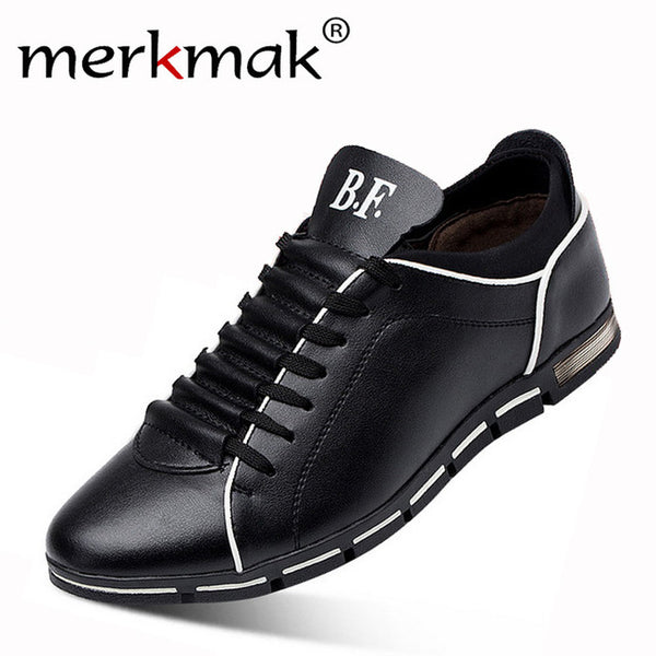 Shoes - New England Men Breathable Leather Big Size 6-14.5 Casual Shoes