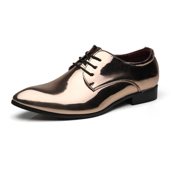 Shoes - Luxury Brand Men's Patent Leather Dress Shoes