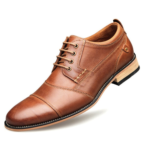 Men's Shoes - Men's Top Quality Genuine Leather Dress Shoes