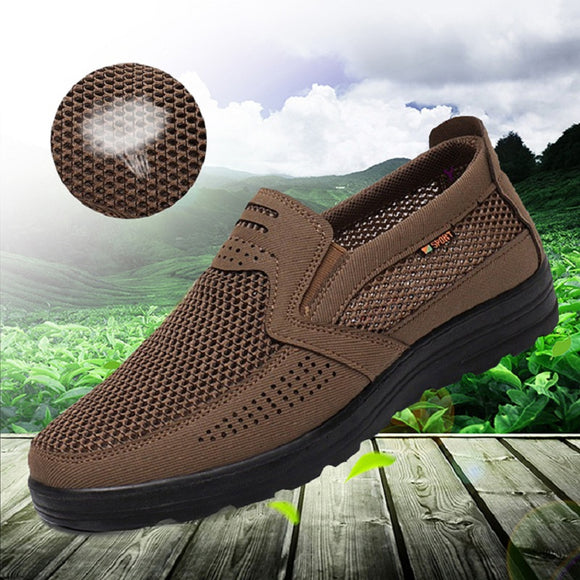 Kaaum-Slip-On Men'S Mesh Flats Comfortable Casual Shoes