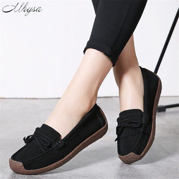 91d31f3588ec5 Women's Shoes - 2019 New Women's Comfortable Soft Flat Suede Loafers