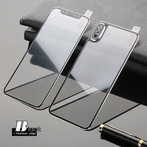 Full 3D Curved Edge Front + Back Tempered Glass For iPhone X XS MAX XR