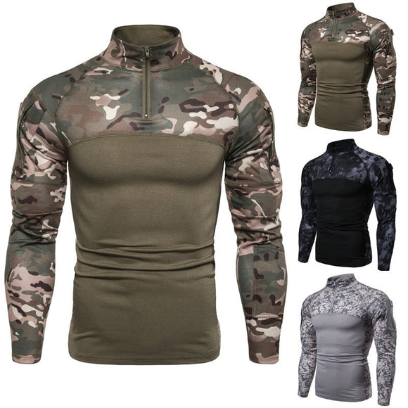 Kaaum Military Army Tactical T Shirt Men Combat Shirt