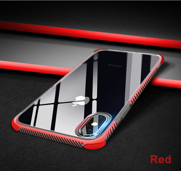 Anti-Knock Carbon Fiber TPU Phone Cases For iPhone 6 6s 7 8 Plus X