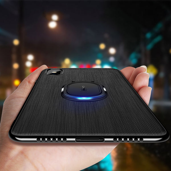 Phone Case - Luxury Ultra Thin Canvas Magnetic Ring Holder Case For iPhone X XR XS XS MAX 8 7 6S 6/Plus