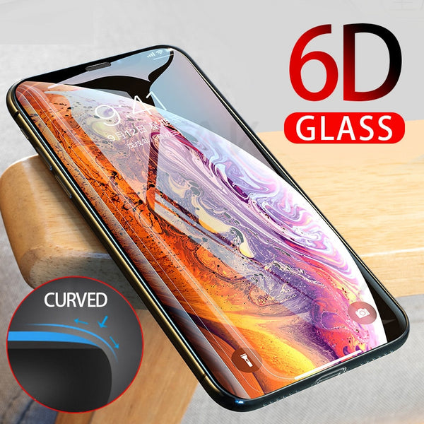 6D Curved Edge Full Cover Screen Protector For iPhone X XS MAX XR