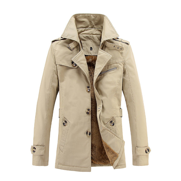 Jackets & Coats - Fashion Turn-down Collar Single Breasted Windproof Warm Winter Coat