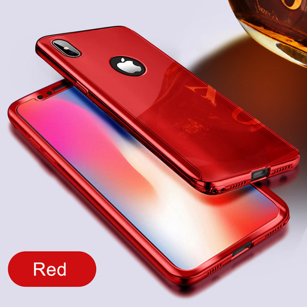 Phone Case - Ultra Slim Plating Mirror Case For iPhone X 8 7 6 5 + Free Screen Protector Film( Buy One Get One 20% Off )