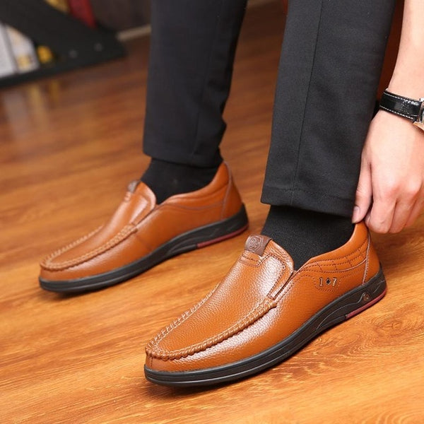 Shoes - New 2019 Plus Size Men Casual Soft Sole Leather Shoes