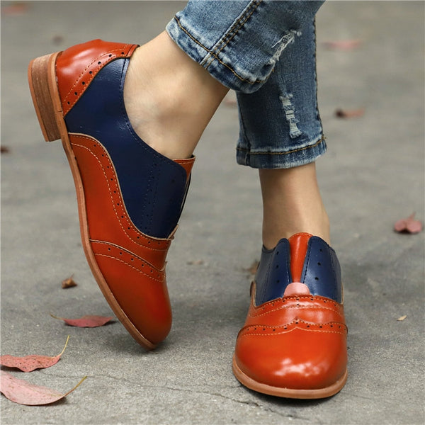 9b78620274f05f Women's Shoes - Women's Vintage Slip-On Round Toe Oxford Shoes