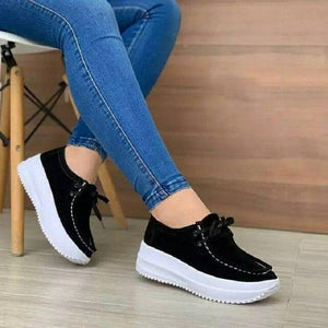 New Canvas Lace-up Women Sport Sneakers