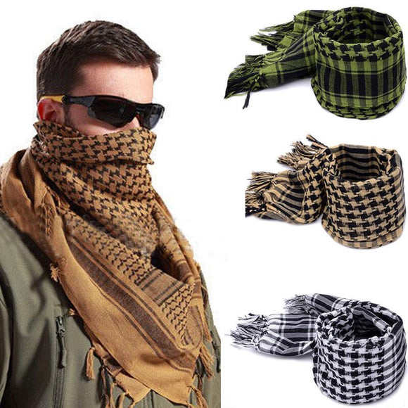 Fashion Mens Lightweight Square Outdoor Shawl Military Arab Tactical Desert Scarf