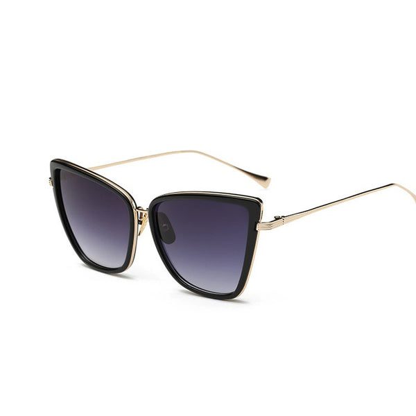 Sunglasses - New Designer Metal Cat Eye Fashion Women Sunglasses