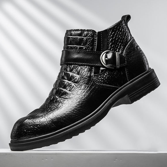 New Genuine Leather Men's Ankle Boots